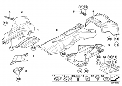 51 48 7 047 809 Heat Resistplate Right Engine Support