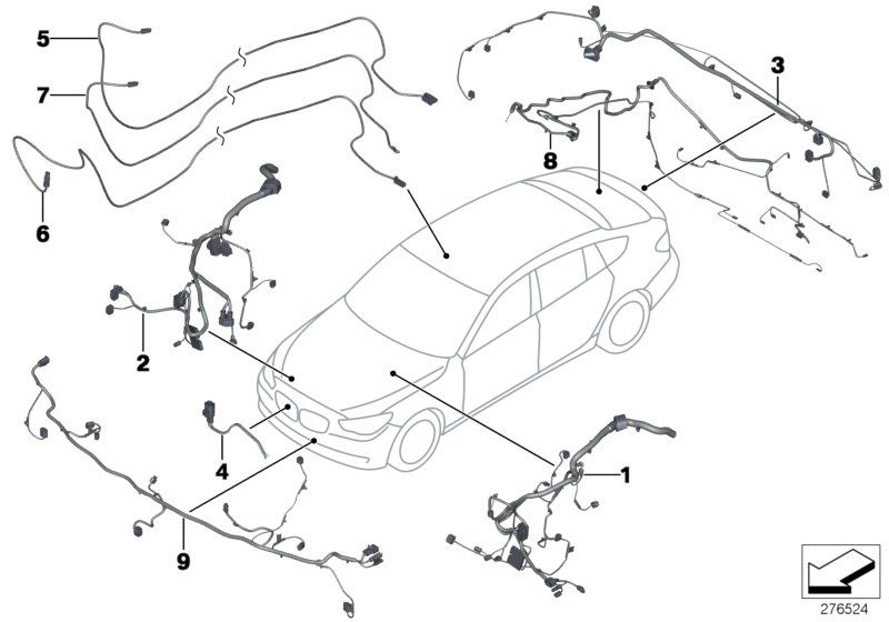 61129296967 Wiring Harness Front End Bmw Bike Order Spare Part Online