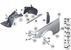 41 30 7 116 287 Bracket Side Panel/Radiator Left