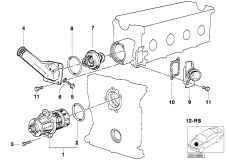11 51 0 007 039 Remanufactured Coolant Pump Mechanical