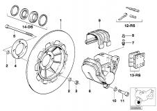 Brake Rotor Black Right