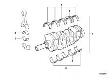 11 21 0 004 014 At-Crankshaft With Bearing Shells