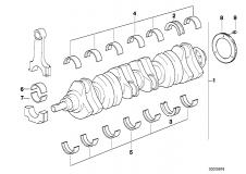 11 21 0 007 262 At-Crankshaft With Bearing Shells