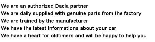 Dacia Dealer Advantages