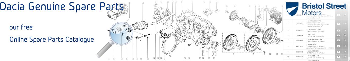 Dacia Genuine Spare Parts with free Catalogue