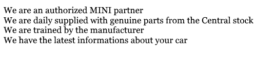 MINI Dealer Advantages