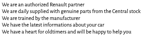 Renault Dealer Advantages