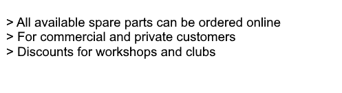 Suzuki genuine spare parts can be ordered online, with discounts for workshops and official clubs