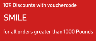 Vauxhall 10% Discounts for orders greater than 1000 Euro