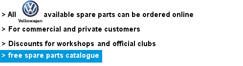 Volkswagen Genuine Spare Parts with free Catalogue
